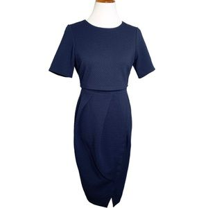 NWT ASOS Maternity Pleated Navy Dress